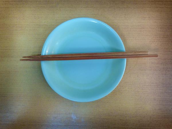 中畑ホルモン 皿 箸